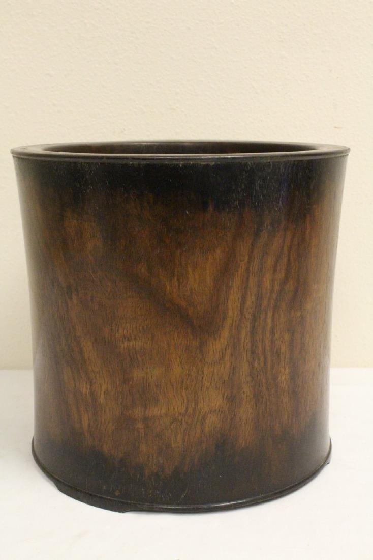 Large Chinese rosewood brush holder - 3