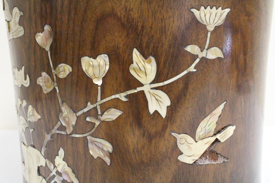 Large Chinese rosewood brush holder - 8