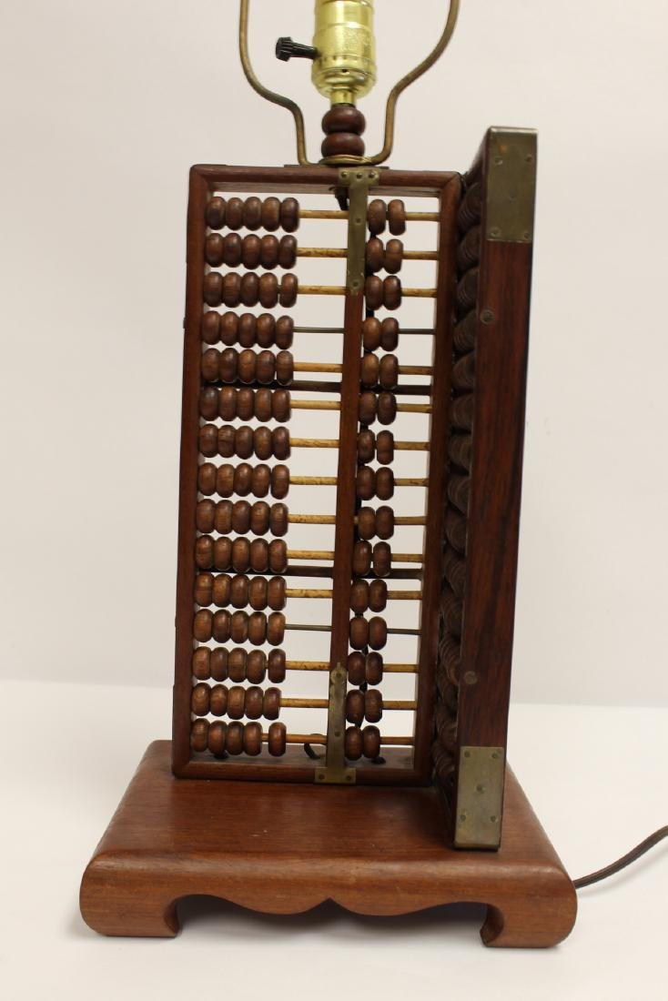 Lamp with abacus motif base - 2
