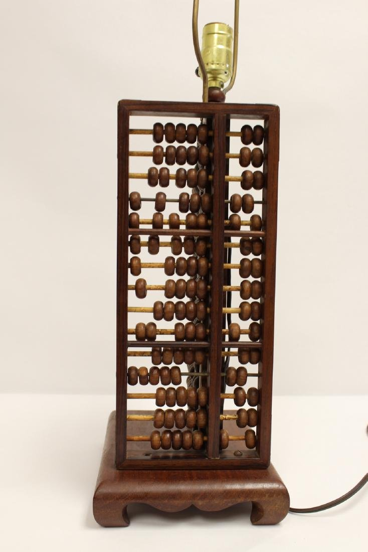 Lamp with abacus motif base - 3