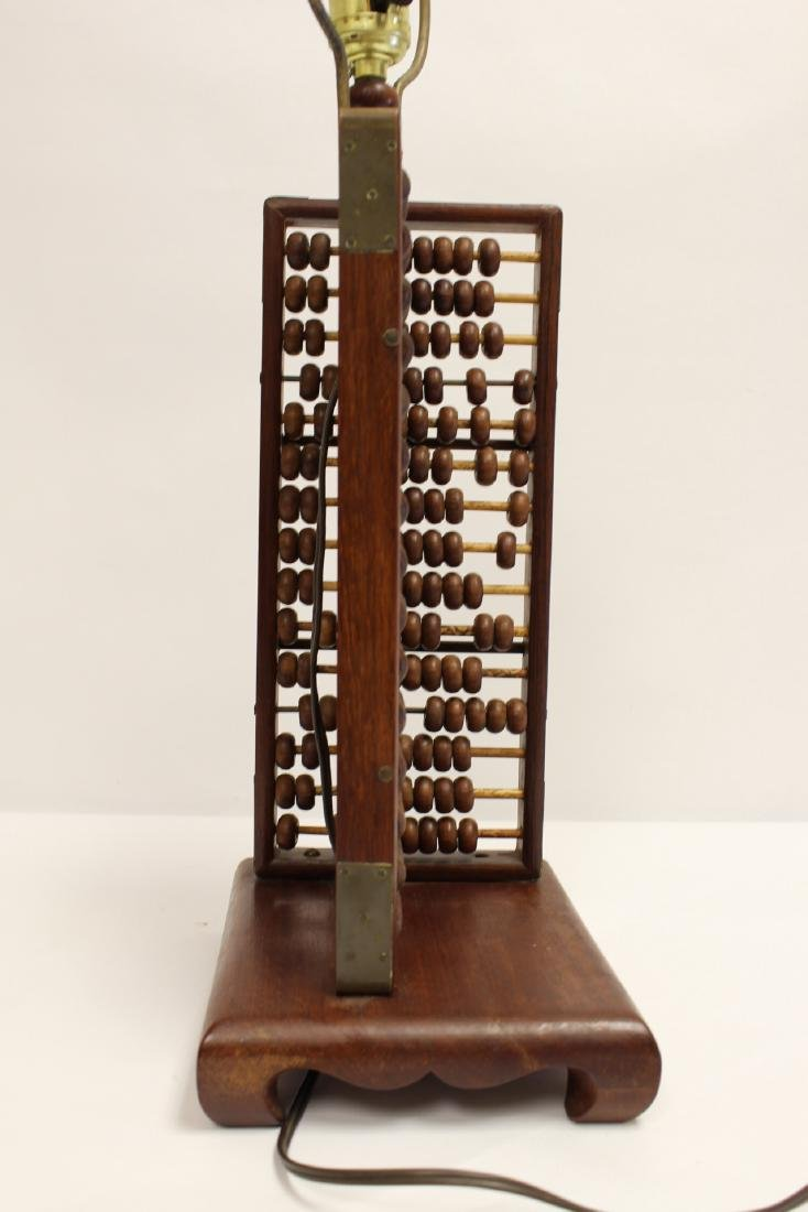 Lamp with abacus motif base - 5