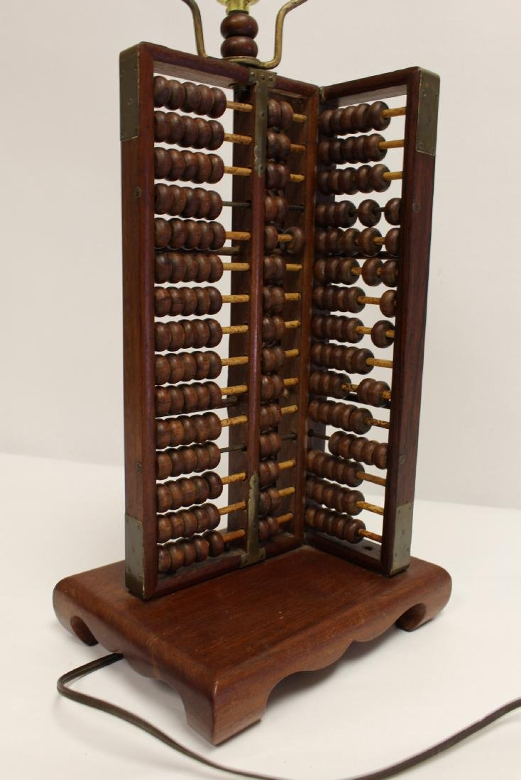 Lamp with abacus motif base - 6