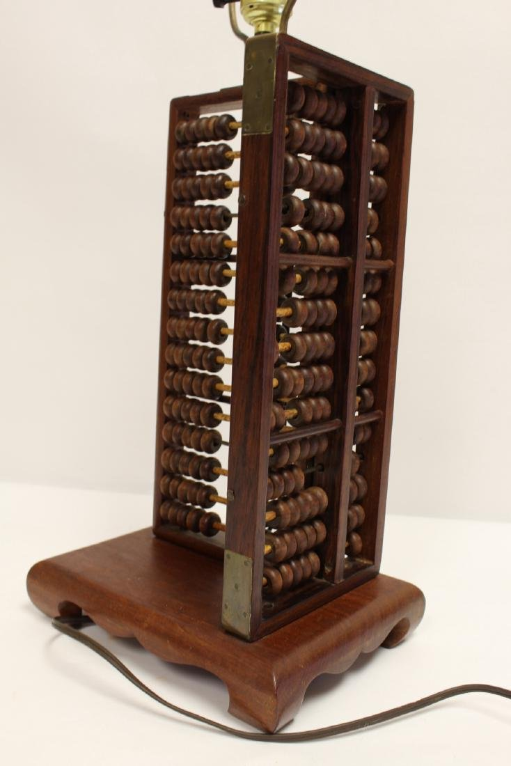 Lamp with abacus motif base - 7