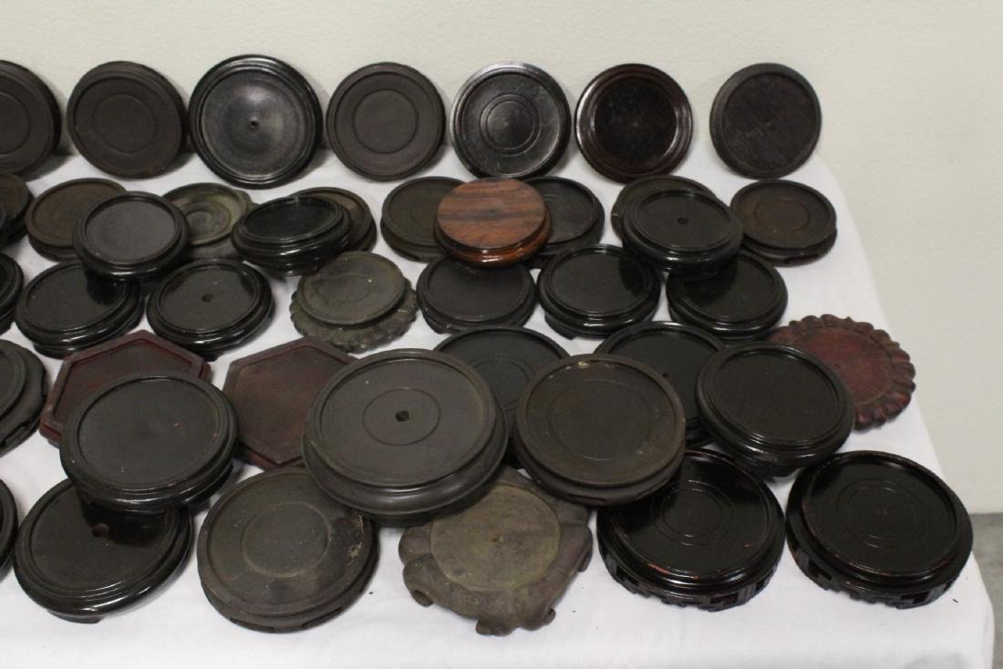 Large lot of Chinese stands, over 40 pieces - 3