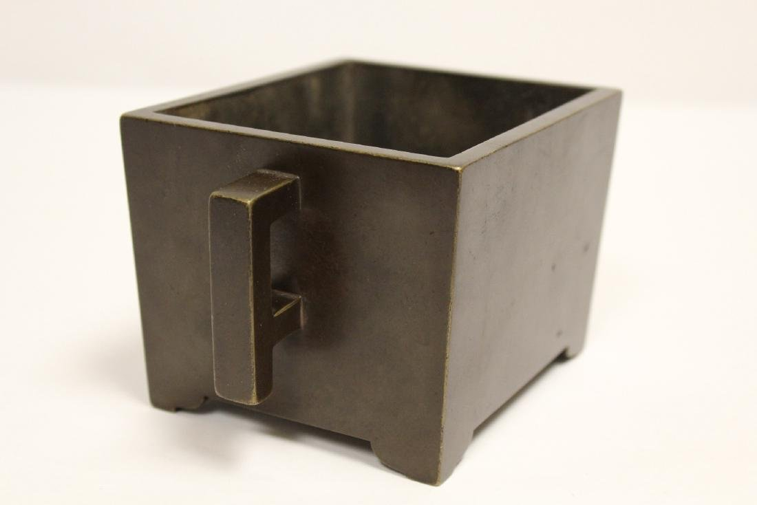 Chinese 19th/20th century very heavy bronze censer - 10
