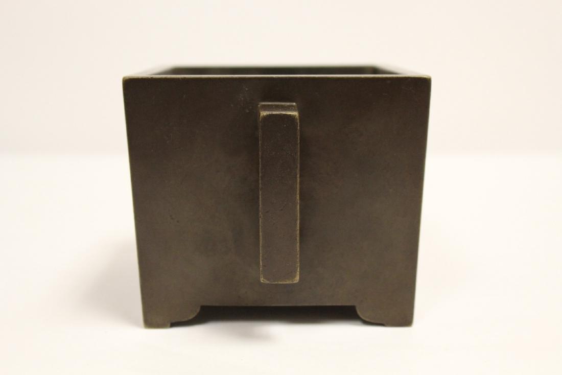 Chinese 19th/20th century very heavy bronze censer - 2