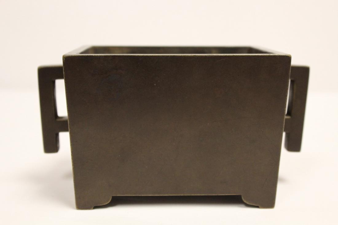 Chinese 19th/20th century very heavy bronze censer - 3