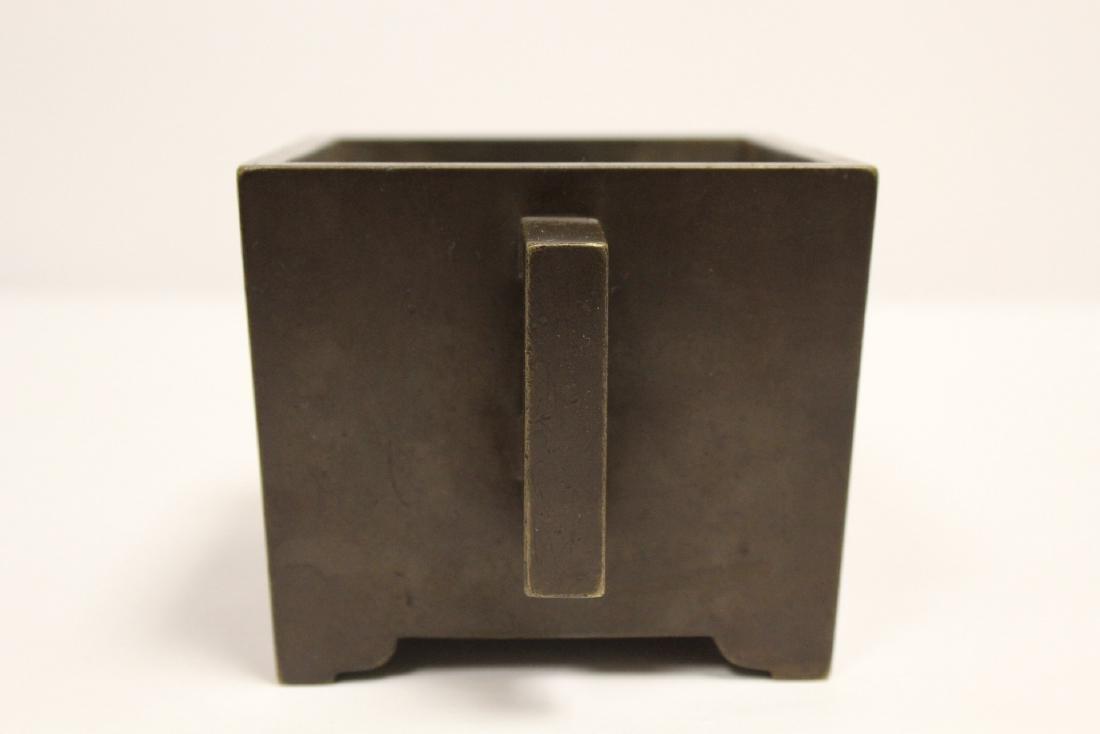Chinese 19th/20th century very heavy bronze censer - 4