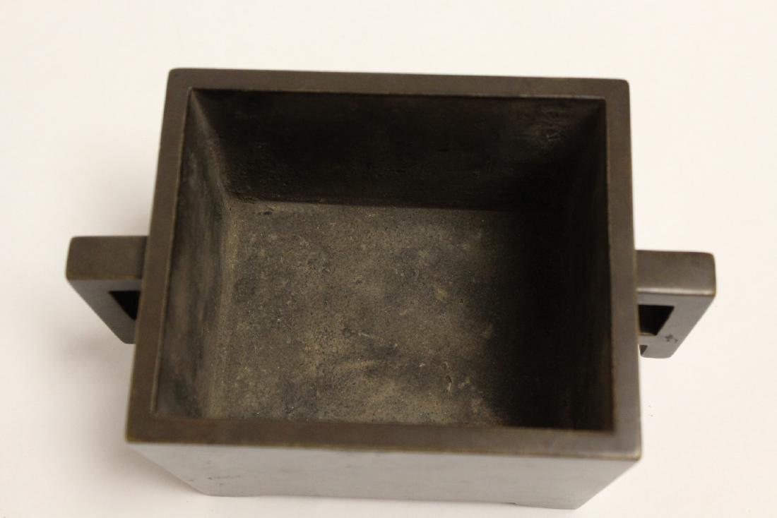Chinese 19th/20th century very heavy bronze censer - 5