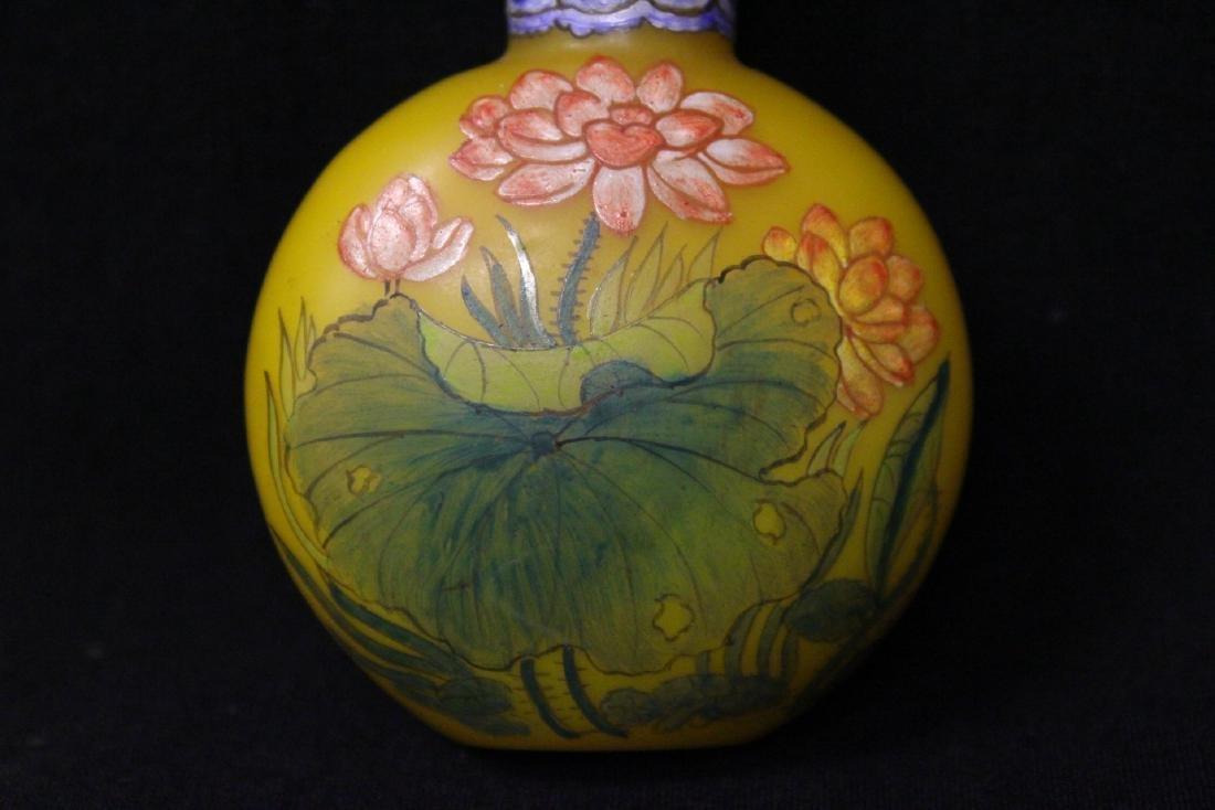 Chinese enamel on Peking glass snuff bottle - 6