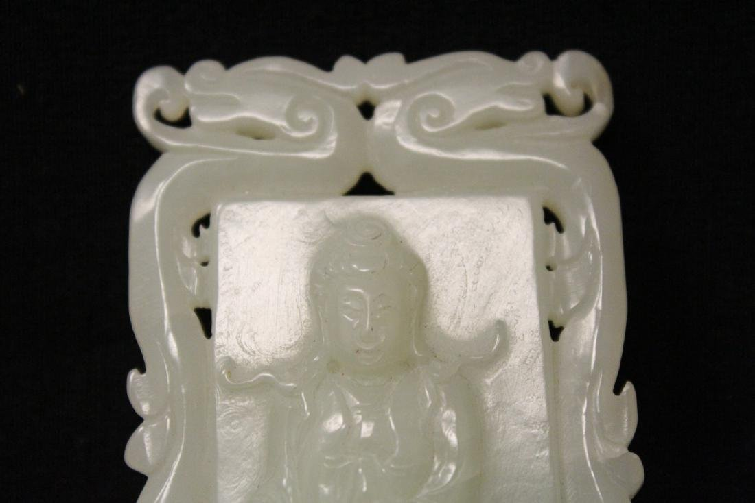 Chinese hetian jade carved plaque - 4