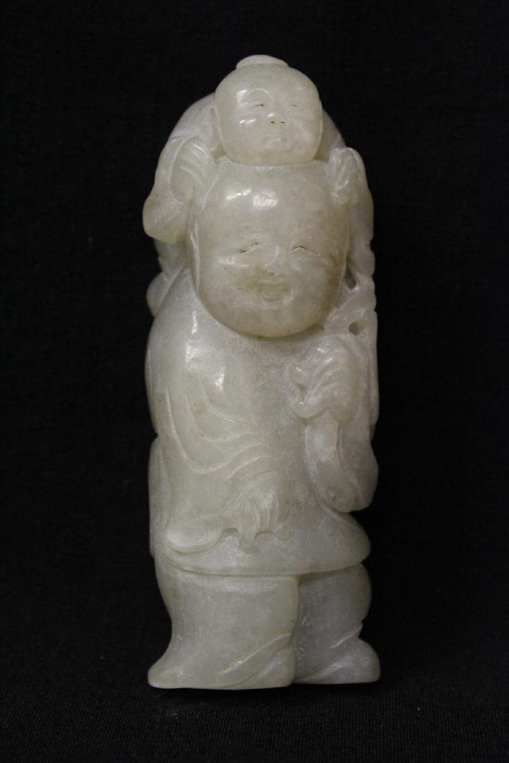 Chinese antique white jade carving