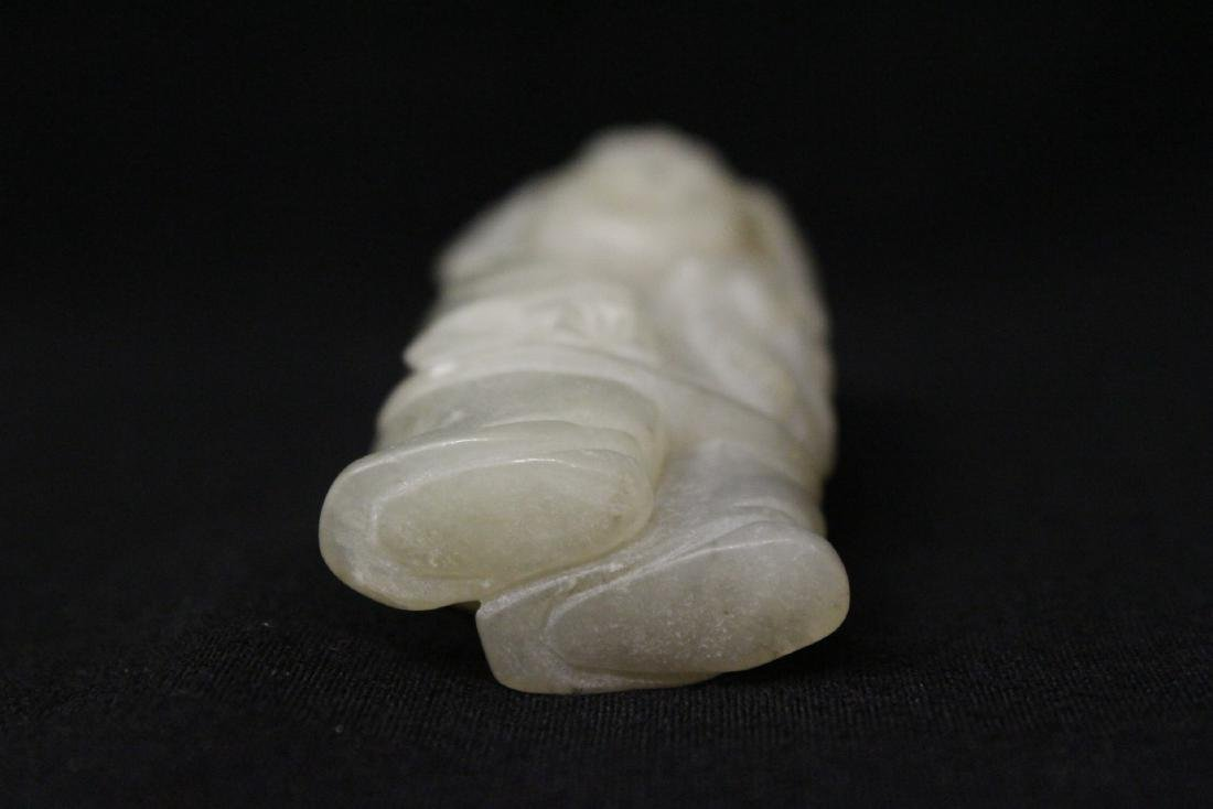 Chinese antique white jade carving - 8
