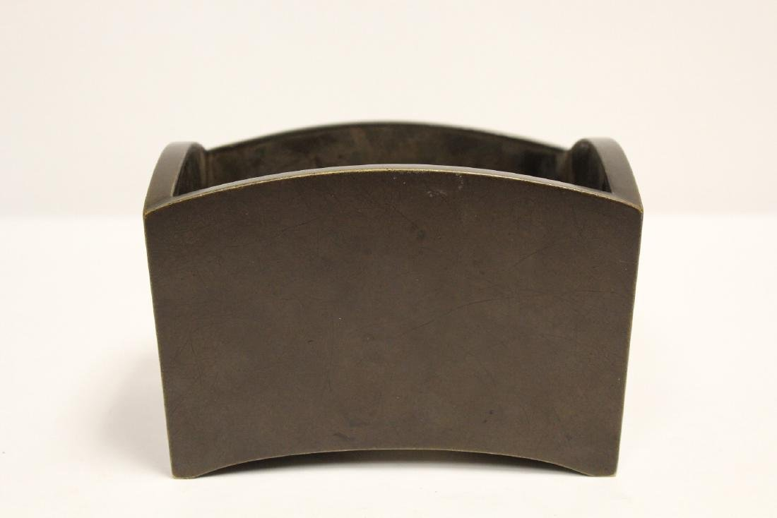 Chinese 19th/20th c. very heavy bronze censer