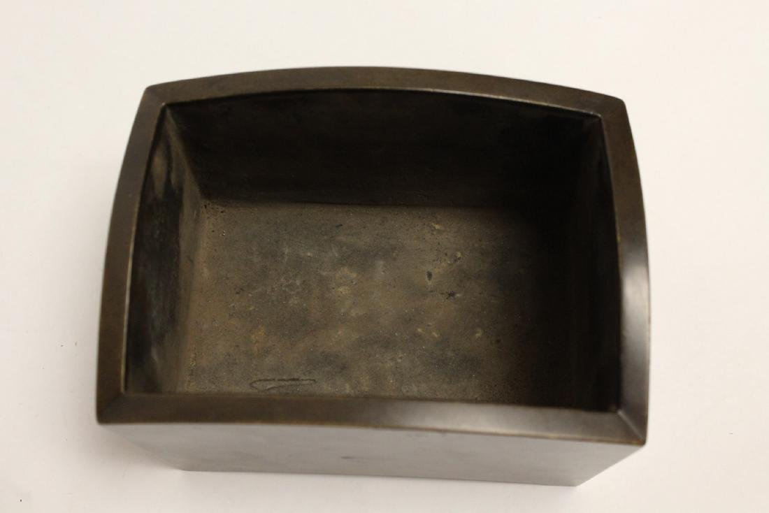 Chinese 19th/20th c. very heavy bronze censer - 5