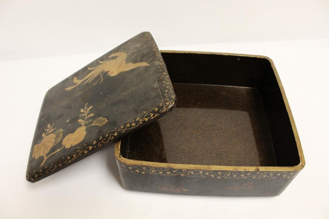 Japanese lacquer box - 10