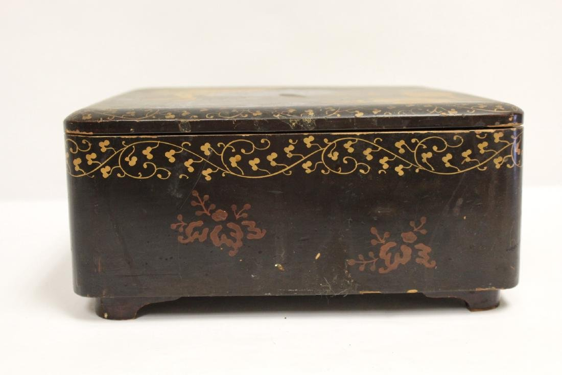 Japanese lacquer box - 5