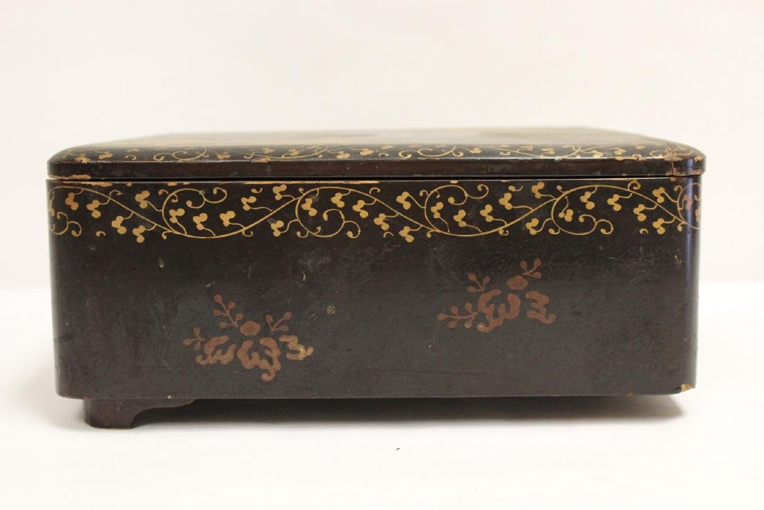 Japanese lacquer box - 6
