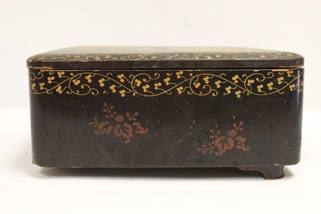 Japanese lacquer box - 7