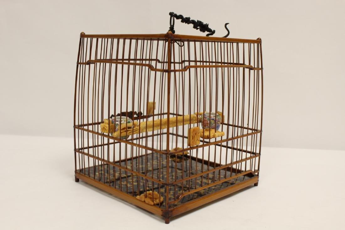 Chinese bamboo bird cage - 4