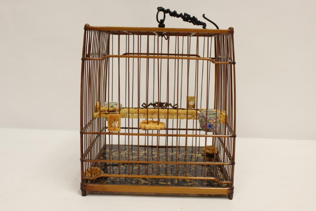 Chinese bamboo bird cage - 5