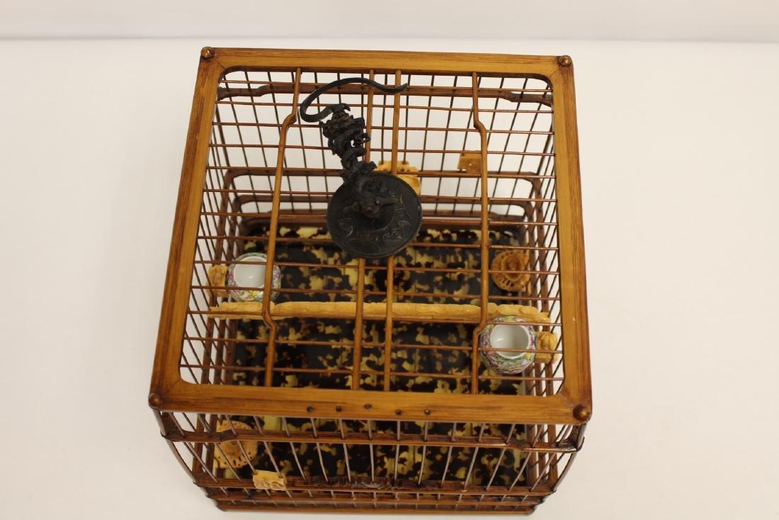 Chinese bamboo bird cage - 6
