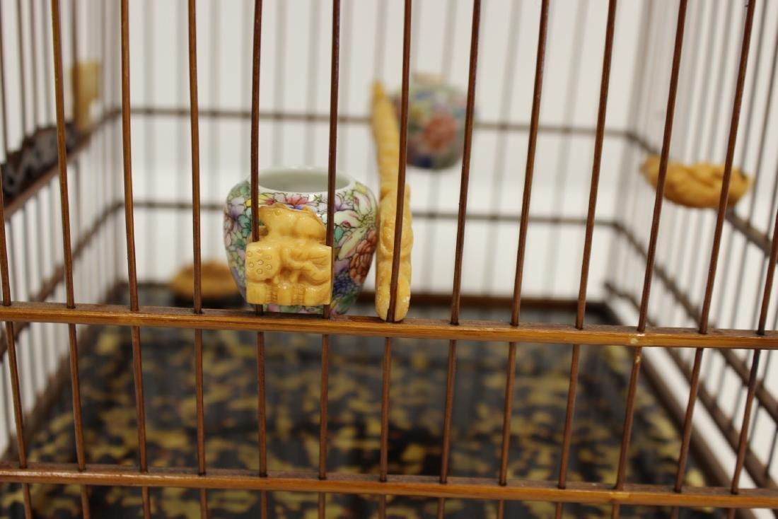 Chinese bamboo bird cage - 8