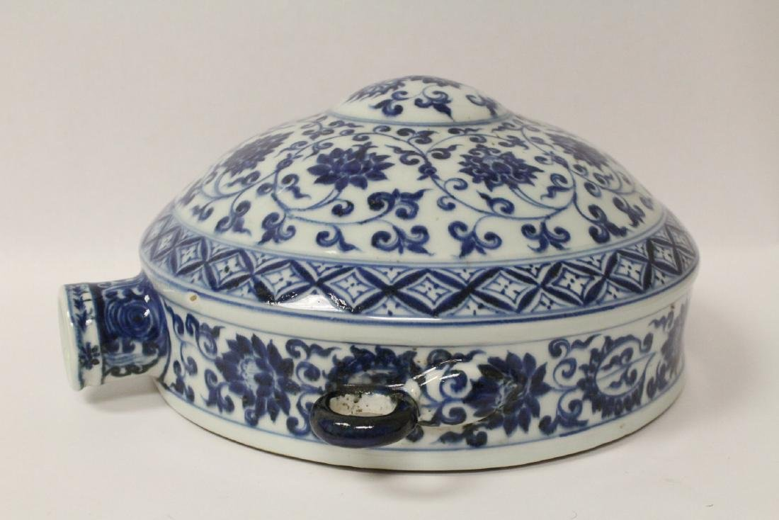 Chinese blue and white porcelain wine flask - 9