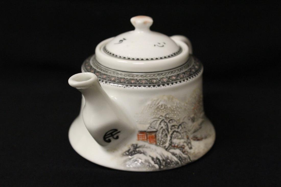 Chinese famille rose porcelain teapot - 2