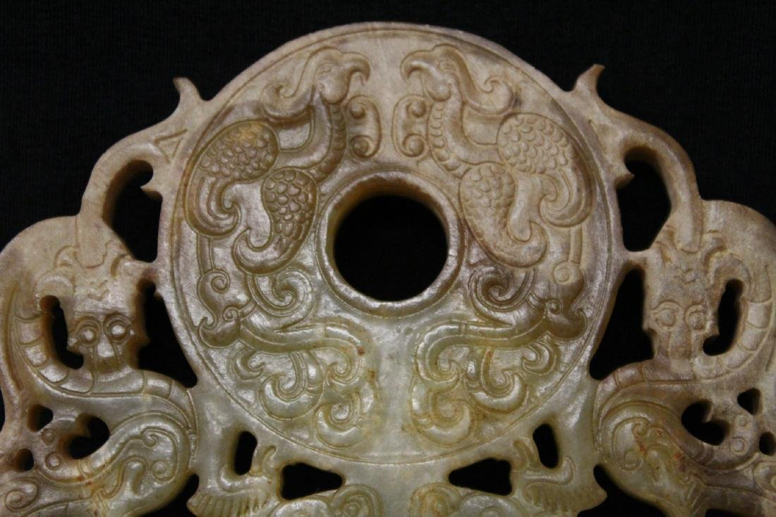 Large Chinese jade carved pei - 5