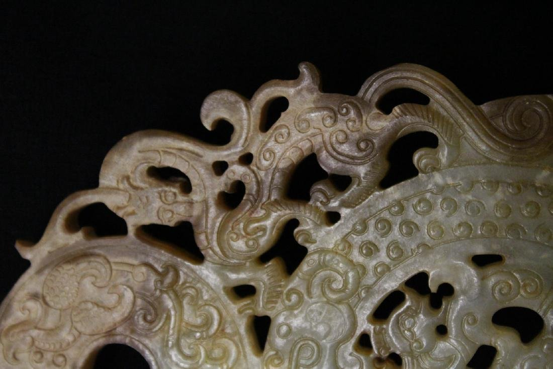 Large Chinese jade carved pei - 6