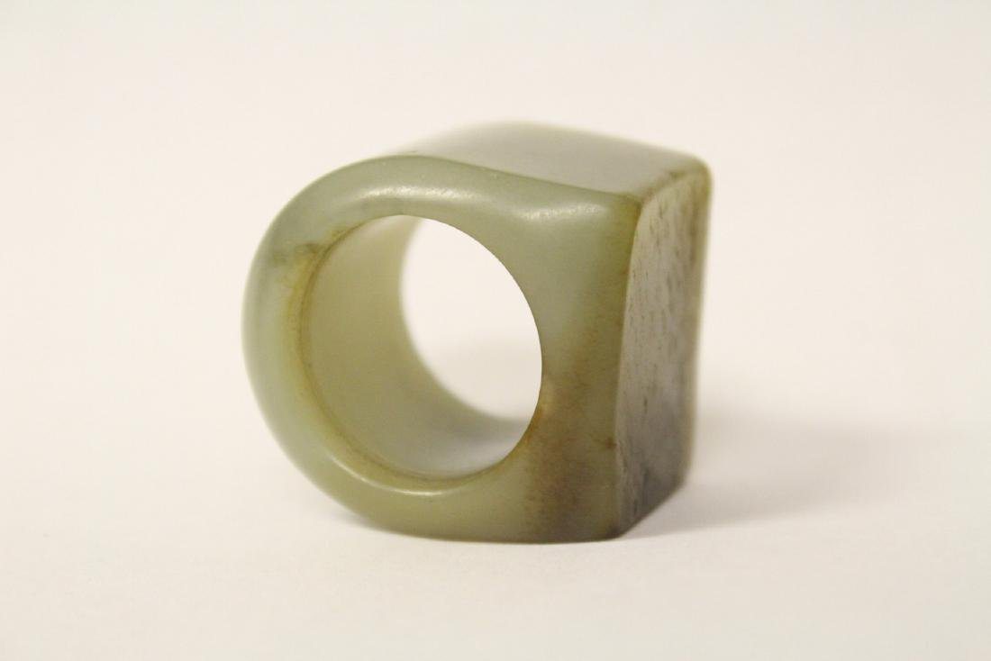 jade carved bangle ring & a stone carved pei - 9