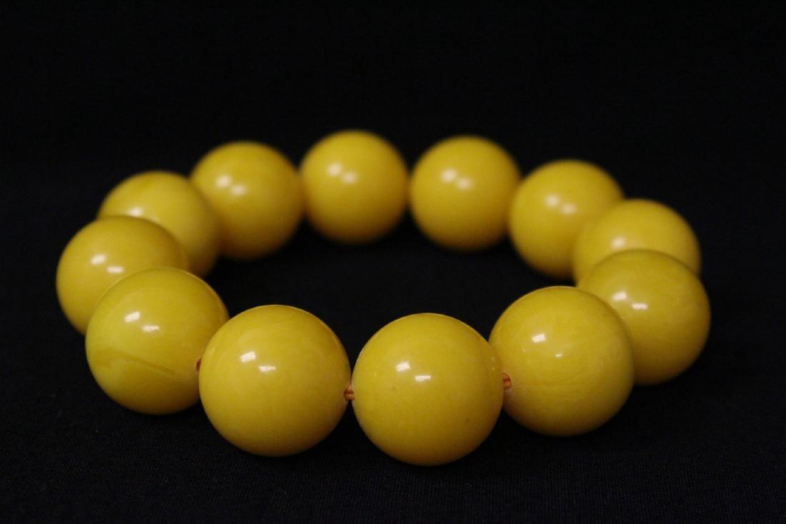Chinese wood bangle bracelet, and bead bracelet - 6