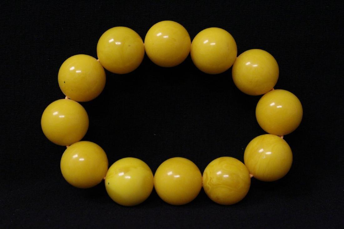 Chinese wood bangle bracelet, and bead bracelet - 9