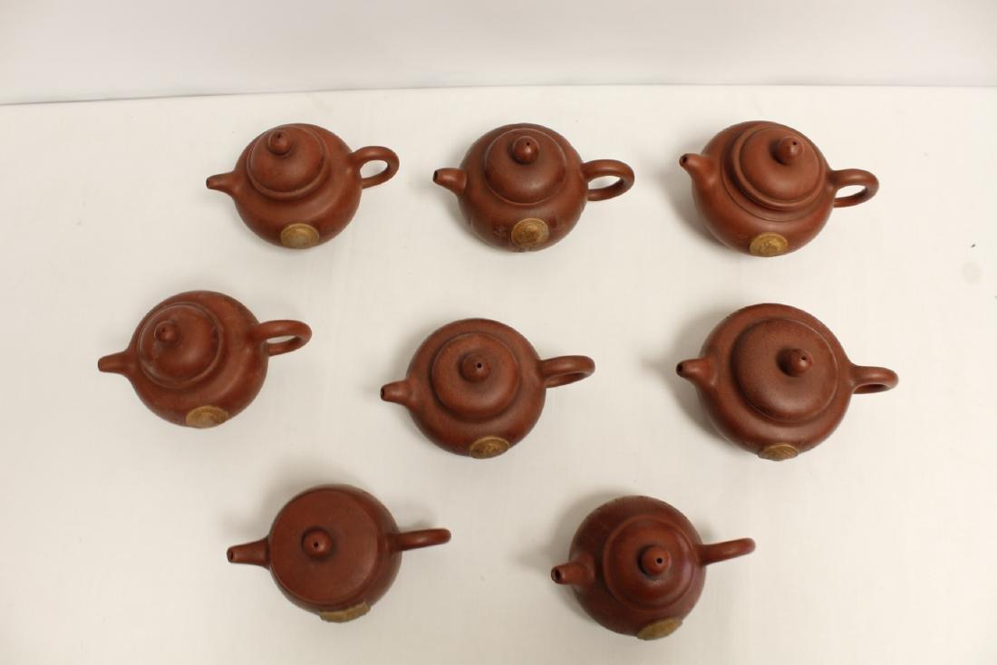 8 Yixing teapots - 2