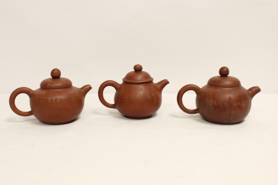 8 Yixing teapots - 10