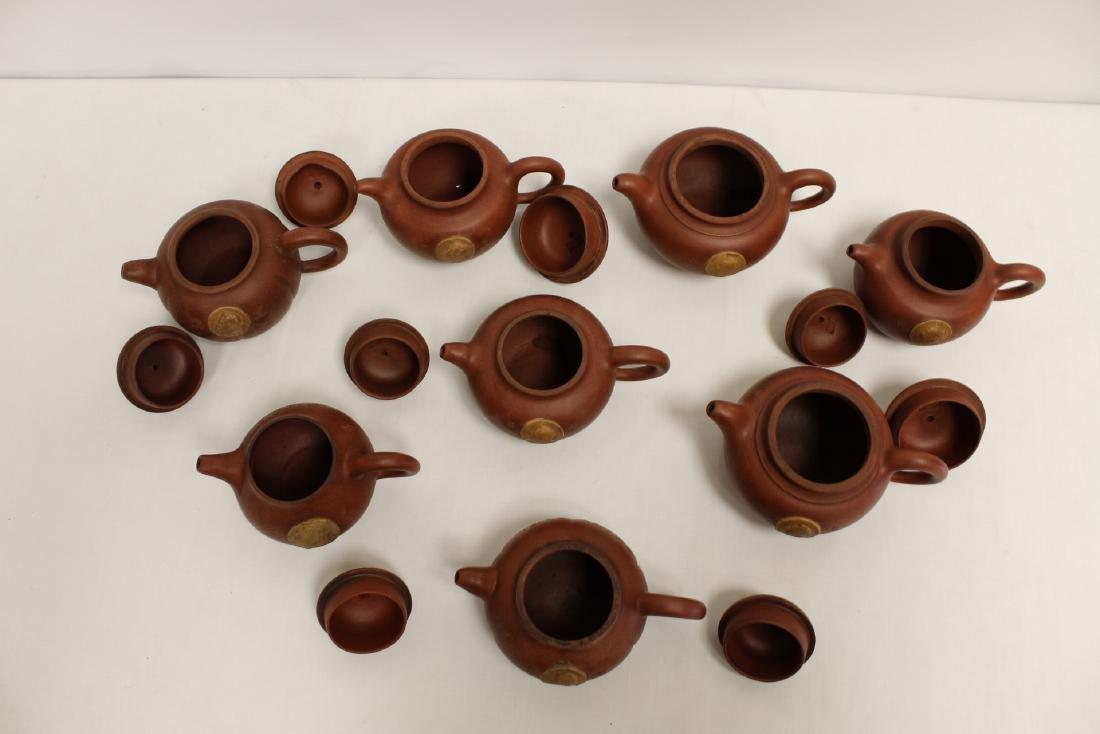 8 Yixing teapots - 3