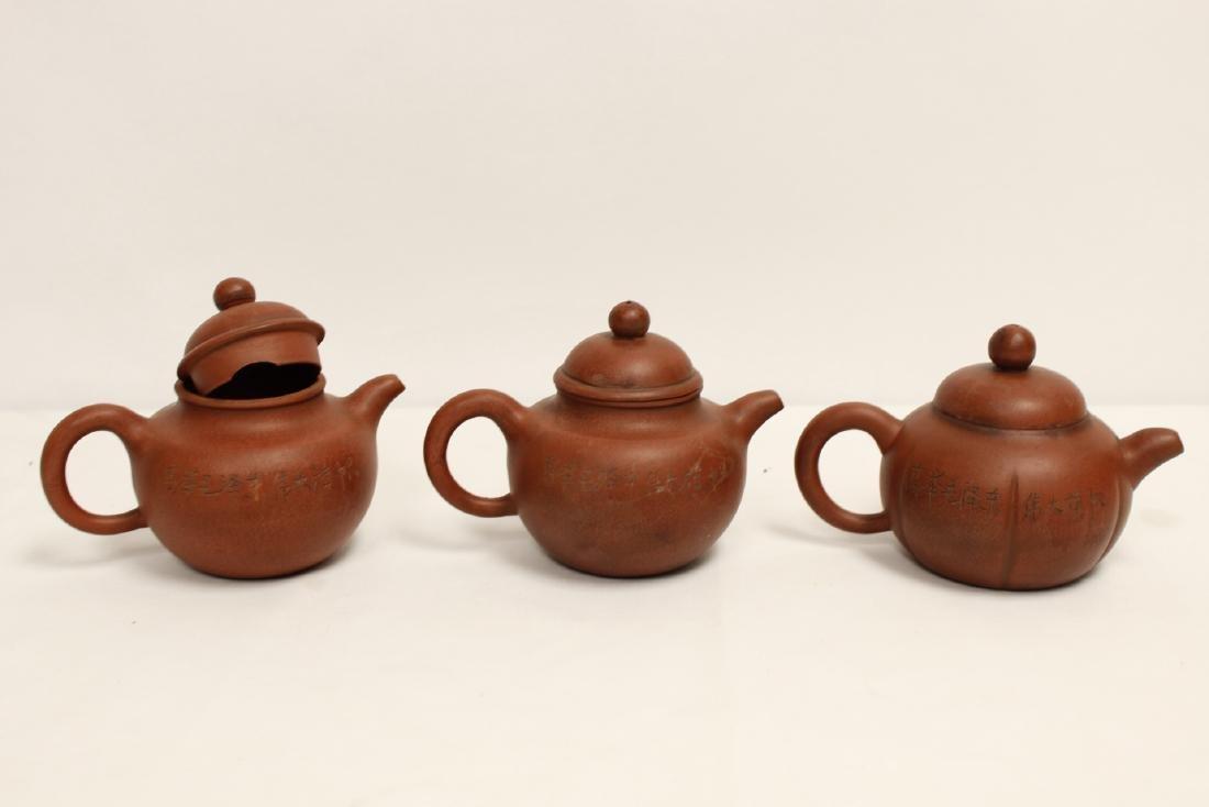 8 Yixing teapots - 6