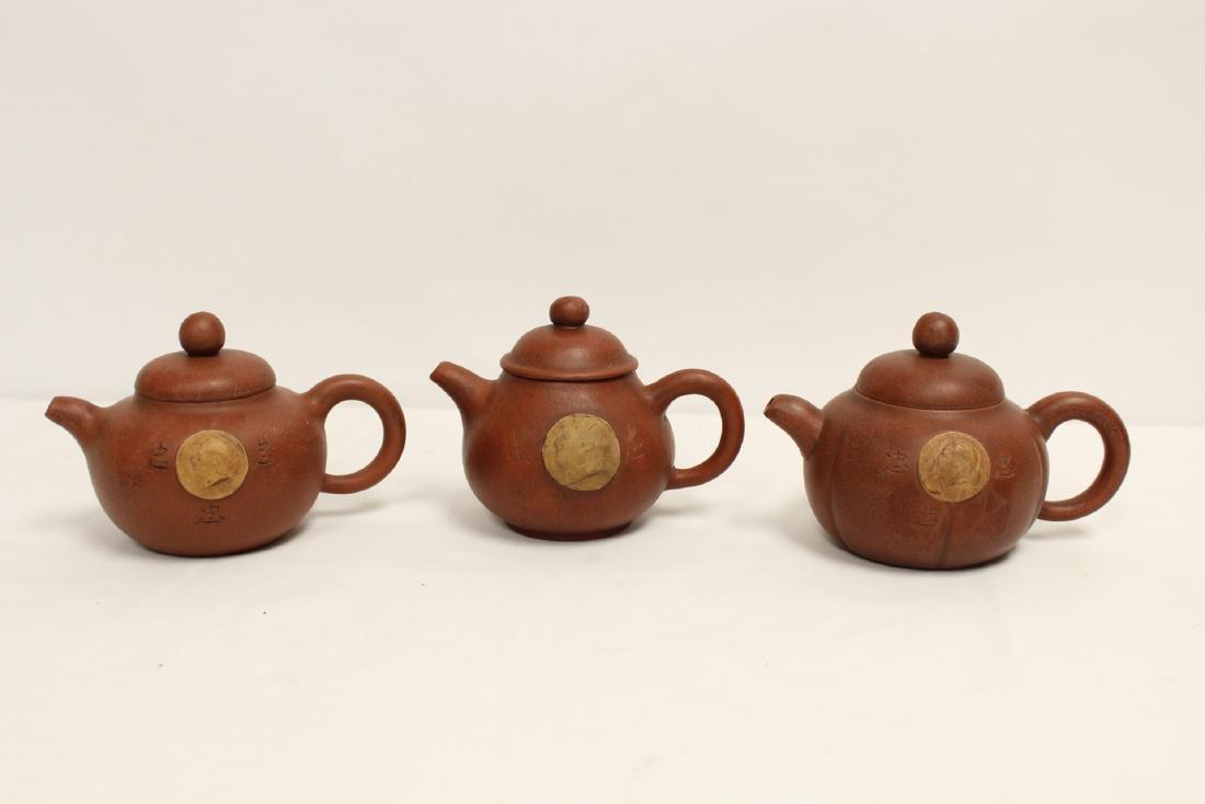 8 Yixing teapots - 9