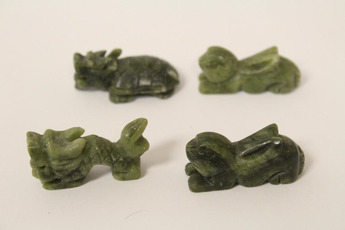 Large collection of jade carved ornaments - 5