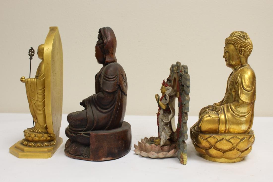 "4 ""casted"" Buddha statue - 2"