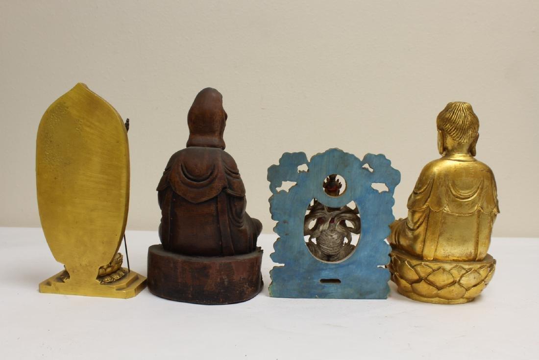 "4 ""casted"" Buddha statue - 3"