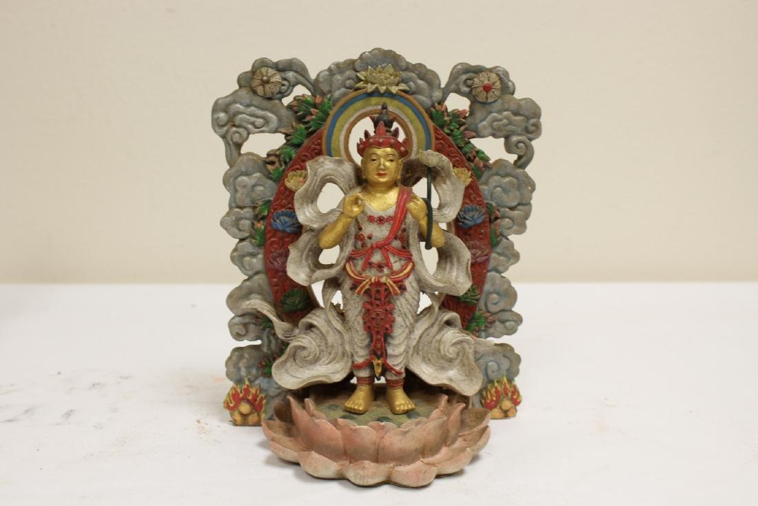"4 ""casted"" Buddha statue - 7"