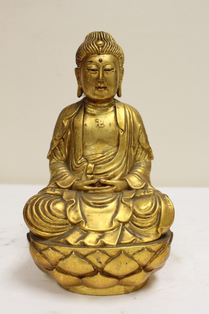 "4 ""casted"" Buddha statue - 8"