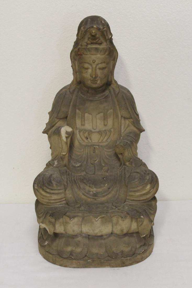 "4 large ""casted"" Buddha statue - 2"