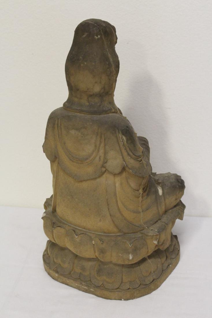 "4 large ""casted"" Buddha statue - 3"
