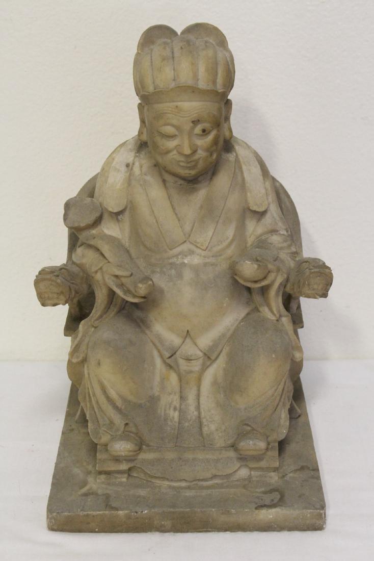 "4 large ""casted"" Buddha statue - 4"