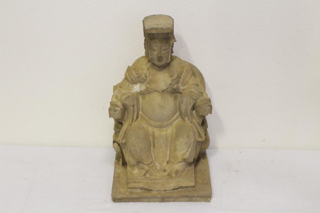 "4 large ""casted"" Buddha statue - 6"