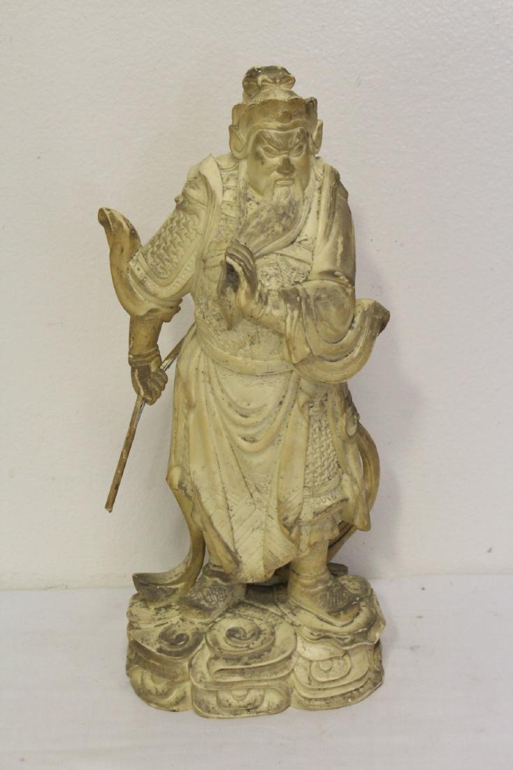 "4 large ""casted"" Buddha statue - 8"