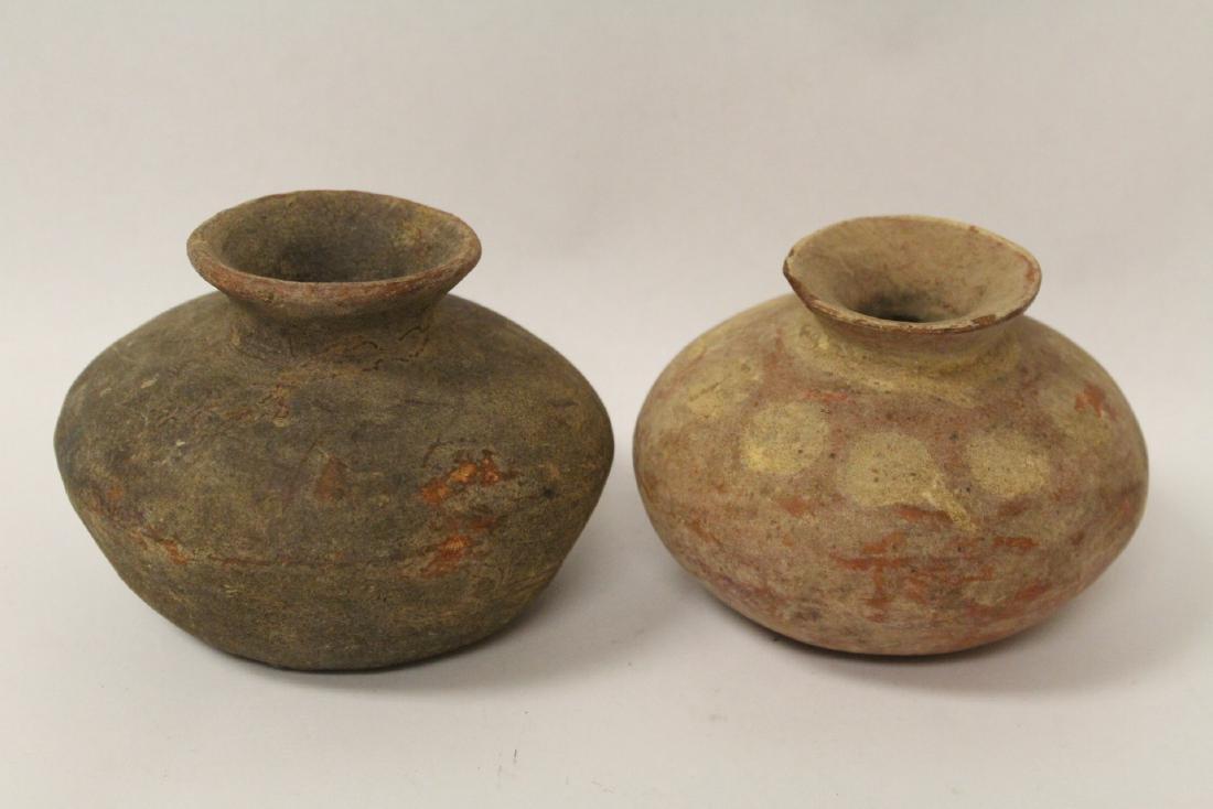 2 antique Indian jars